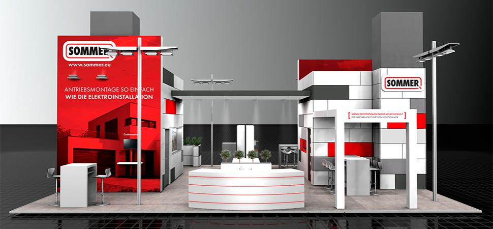 SOMMER trade fair booth