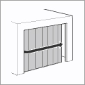 Side-opening door / Side-opening sectional door
