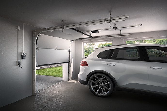 Garage with SOMMER pro+ garage door operator