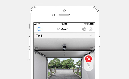 Control garage doors conveniently with the SOMweb