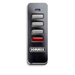 Pearl Status 3-command handheld transmitter with SOMloq2 from SOMMER